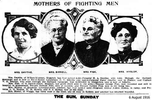 mothers of fighting men The Sun 1916